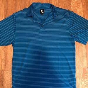 Men's FootJoy golf polo sz large blue striped